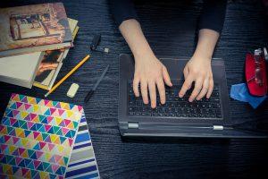 student laptop study